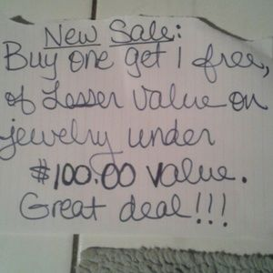 Jewelry - All jewelry under $100 is bogo!!!
